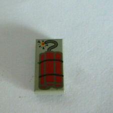 1 x LEGO® 3069 Systemstein,Fliese in 1x2 bedruckt mit Dynamit gebraucht.