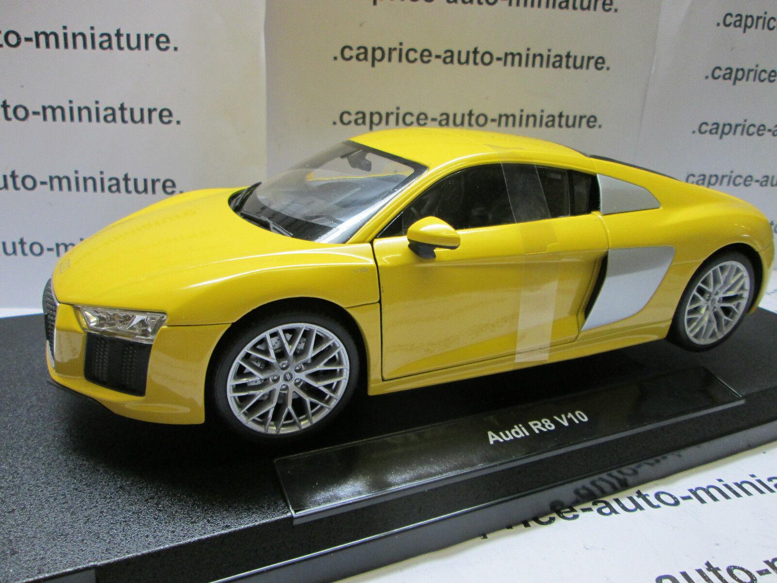 AUDI  R8  V10  jaune      1 18
