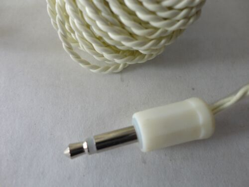 Ivory 25ft. 3.5 Mono Plug Male Earpiece with Comfortable Plastic Cap 25 Foot