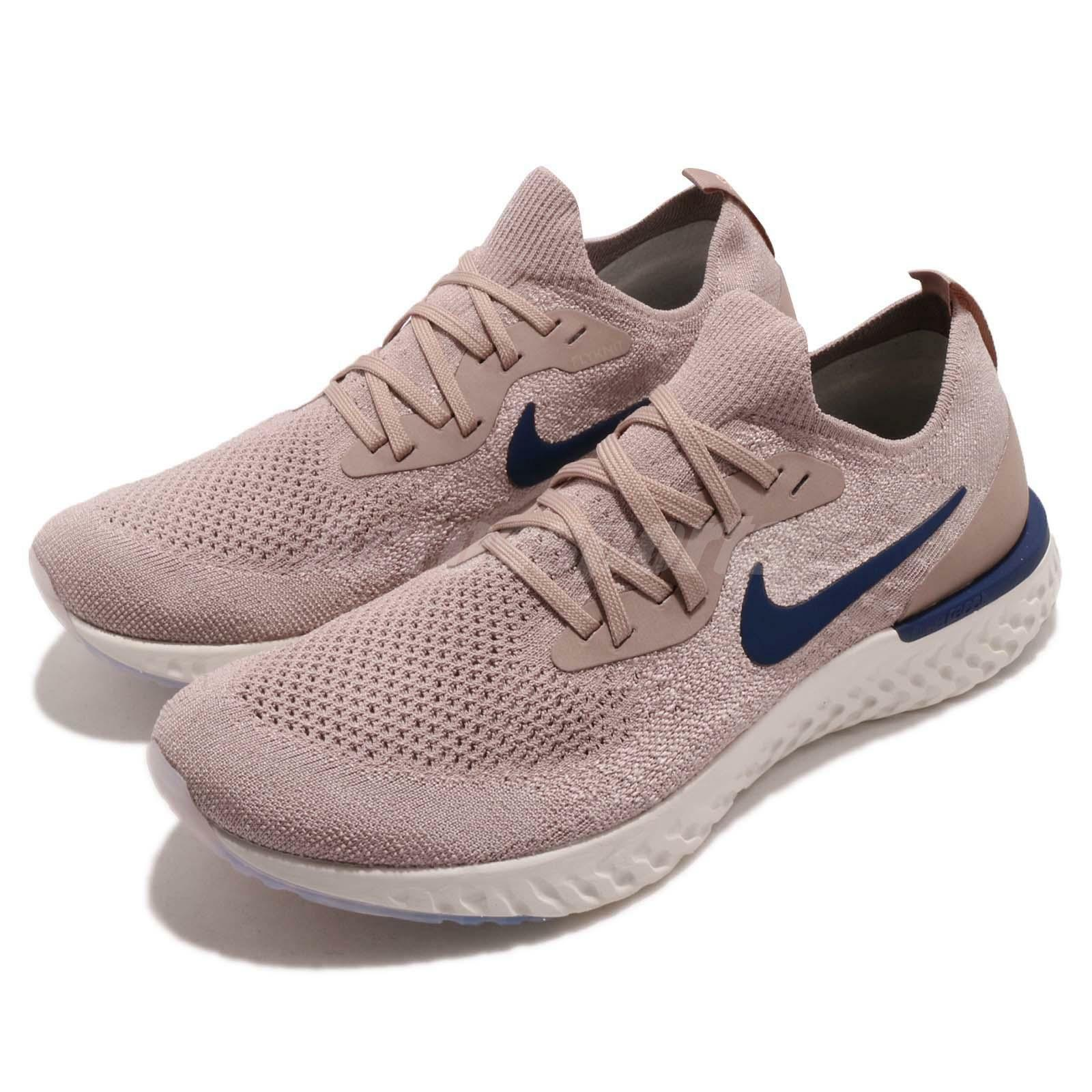 Nike Epic React Flyknit Hombre Diffused Zapatos Taupe Navy Hombre Flyknit Running 24a10f