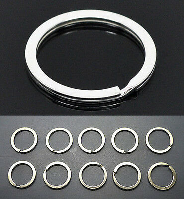 10pcs Metal Key Holder Split Rings Keyring Keychain Keyfob Accessories Gift 30mm