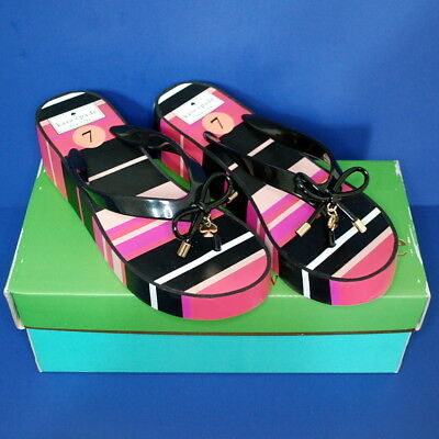 1e65c005539e NEW Kate Spade Size 7 Rhett Wedge Flip Flop Sandal Multi Voyage ...