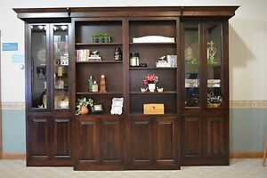 Image Is Loading Library Murphy Bed Full Size Gl Doors Sliding