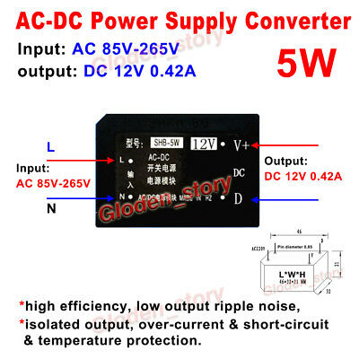 AC-DC Converter AC 110V 220V230V to DC 5V2A Power Supply Switching Transforme H$