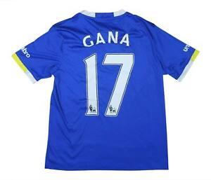 Everton 2016-17 Authentic Home Shirt GAMA #17 (eccellente) L Ragazzi Calcio Jersey