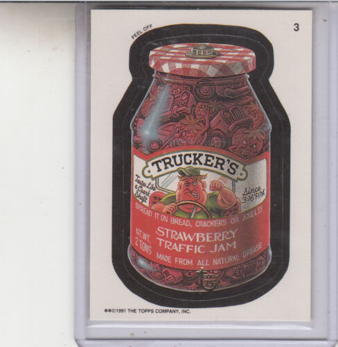 2013 TOPPS 75TH ANNIVERSARY GOLD STAMPED 1991 WACKY PACKAGES #3 TRUCKERS