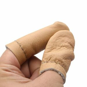 Ayunjia Needle Finger Protector 5 Pairs Needle Felting Leather Finger Protector Knitting Random Color Thumb Index Finger Thimbl