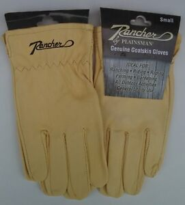Two-2-Pairs-RANCHER-by-Plainsman-Cabretta-Goatskin-Leather-Gloves-SMALL-New