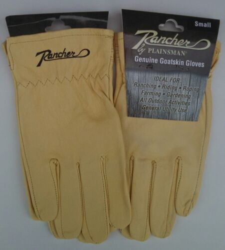 2 Two Pairs RANCHER by Plainsman Cabretta Goatskin Leather Gloves SMALL New