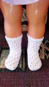 Deux-paires-de-Chaussettes-pour-Poupees-de-Modes-et-Travaux-de-40-cm