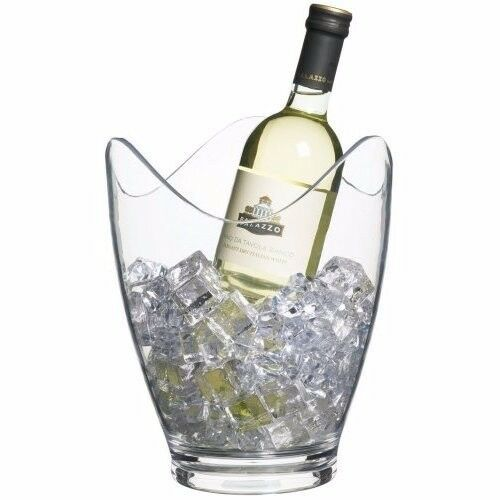 BAR CRAFT CLEAR ACRYLIC DRINKS PAIL / WINE BUCKET - (ON SPECIAL)
