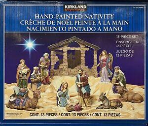 Kirkland Signature Creche de Noel 13 Piece Hand Painted Nativity
