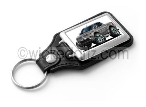 WickedKarz Cartoon Car Mitsubishi L-200 Pick Up Metallic Grey Stylish Key Ring