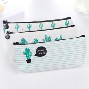 Kaktus Pencil Pen Case Mäppchen Kosmetik Make-up Aufbewahrung Tasche Beutel Bag