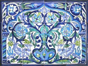 decorative ceramic tiles: mosaic panel kitchen bath