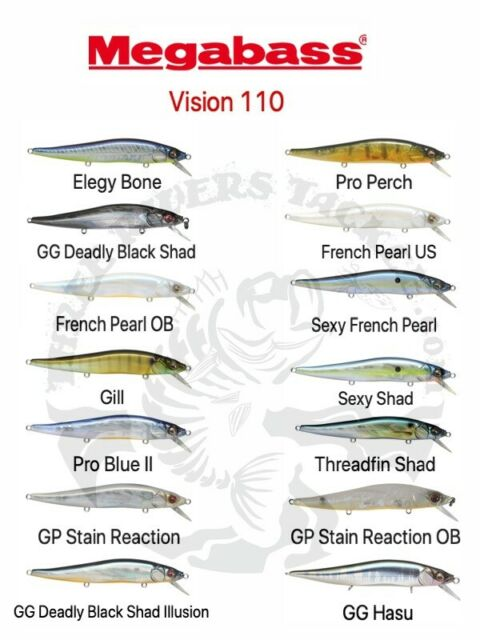 110  Matte Finish Mat Magic Jerkbaits Choose Color NEW Megabass Vision Oneten
