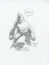 Mike Mignola Original The Rhino Pencil Sketch