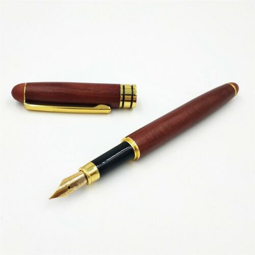 Wooden Fountain Pen Fluent Writing Traditional Birthday Business Practical  NE8
