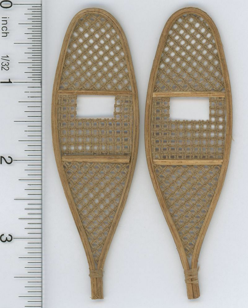 Snow Shoes ATTH G-14 1:12 Dollhouse Miniature Snowshoes