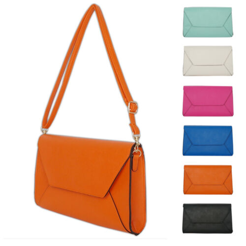 New Women/'s Ladies Handbag Colorful Clutch Cross Body Square Shoulder Bag Purse