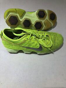 neon yellow nike running shoes