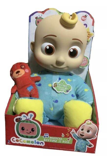 Jazwares CMW0016 Cocomelon Musical Bedtime JJ Doll, with a ...