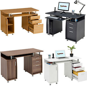 Image Is Loading Computer Desk With Storage Amp A4 Filing Drawer