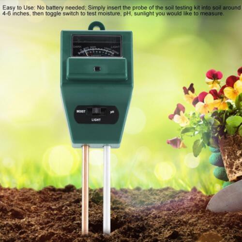 MS02 3-in-1 Soil Moisture//Light//pH Tester Gardening Tool Sonkir Soil pH Meter