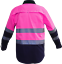 Hi-Vis-Work-Shirt-Light-Cotton-Drill-Safety-155GSM-Vents-Back-Cape-3M-Tape thumbnail 9