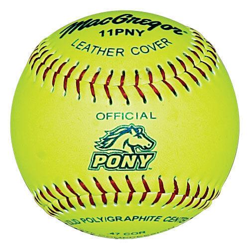MacGregor® .47 375 Pony® Fast Pitch 11  Softball (1 DOZEN)