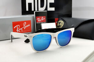 99083914c74 Image is loading Ray-Ban-Original-Wayfarer-RB2140-White-Frame-Blue-