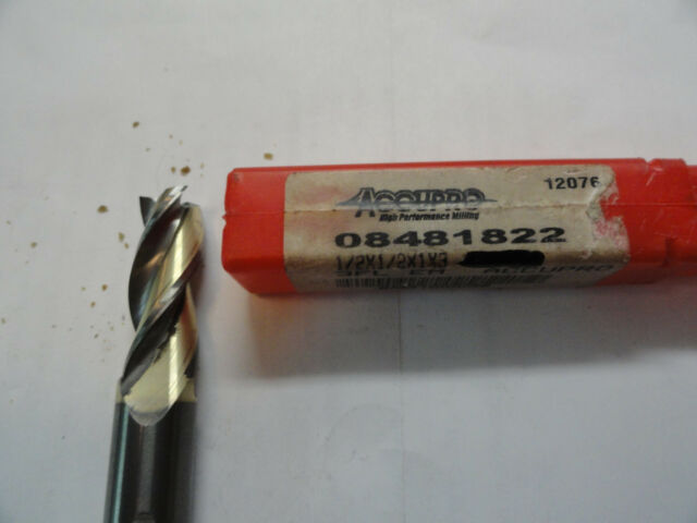 """5//16/"""" Diameter 3 Flute TiCN Carbide End Mill .045/"""" Corner Radius Design-Rite USA"""