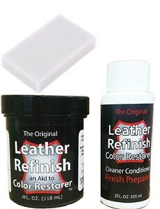 Leather-Refinish-Color-Restorer-Cleaner-Conditioner-Dye-Preparer-w-free-sponge