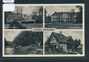 30378 Ak Mbk Lensahn Park Bus Schloss.. Gebr 1949 Bahnpost