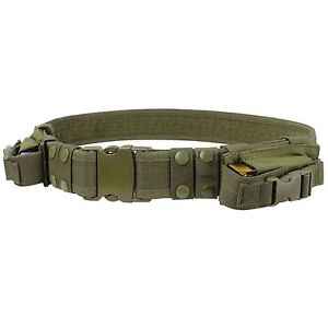 Condor-OD-Green-TB-Military-Combat-Pouch-Duty-Tactical-Belt-2-Pistol-Mag-Pouch