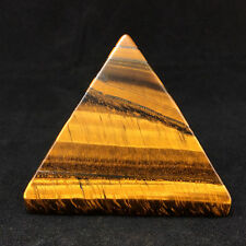 Gold Tiger's Eye Pyramid -160302-45 mm, 1.75 in. Stone of Manifestation Crystal
