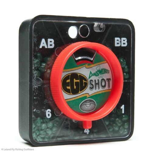 4 /& 6 WEIGHT FORWARD TIN EGG SPLIT SHOT DINSMORES 5 SHOT SELECTION SZ AB 1 BB