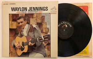 Waylon-Jennings-Folk-Country-1966-US-Stereo-1st-Press-VG-Ultrasonic-Clean