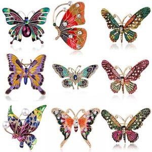 Wholesale-Rhinestone-Crystal-Butterfly-Pearl-Brooch-Pin-Women-Charm-Jewelry-Gift