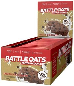 Battle-Oats-Soft-Baked-Protein-Cookie-12x60g-Vegan-Gluten-Free-Low-Sugar