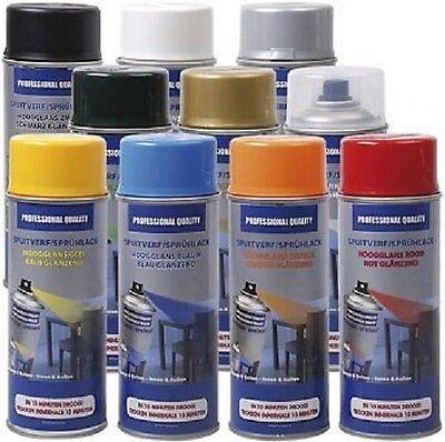 400ml Acryl Lackspray- 10 Sprühfarben- für innen und außen- schnelltrochnend!
