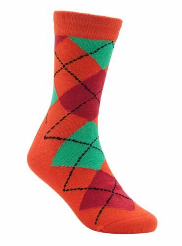 "Soft Colorful Kids Argyle Bamboo Seamless Socks /""Orange Pumpkin/"" by Rambutan"