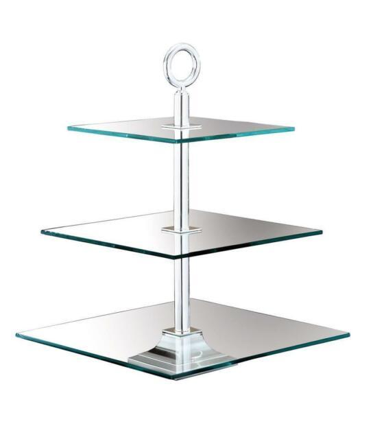 Fink Clear 3Er Glasetagere,Eckig,Vers 30X30  cm Höhe 40  cm  As 135115