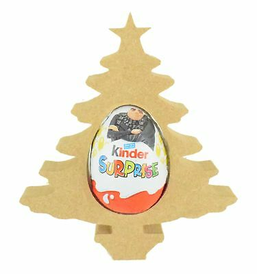 Christmas Tree PACK OF 10-18mm MDF Kinder Egg Holder Freestanding