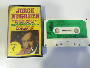 JORGE-NEGRETE-EXITOS-AY-JALISCO-NO-TE-RAJES-CINTA-TAPE-CASSETTE-TRONIC-1977