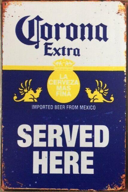 CORONA BEER  Vintage Rustic Retro Tin Metal Sign Man Cave, Shed & Bar -Garage