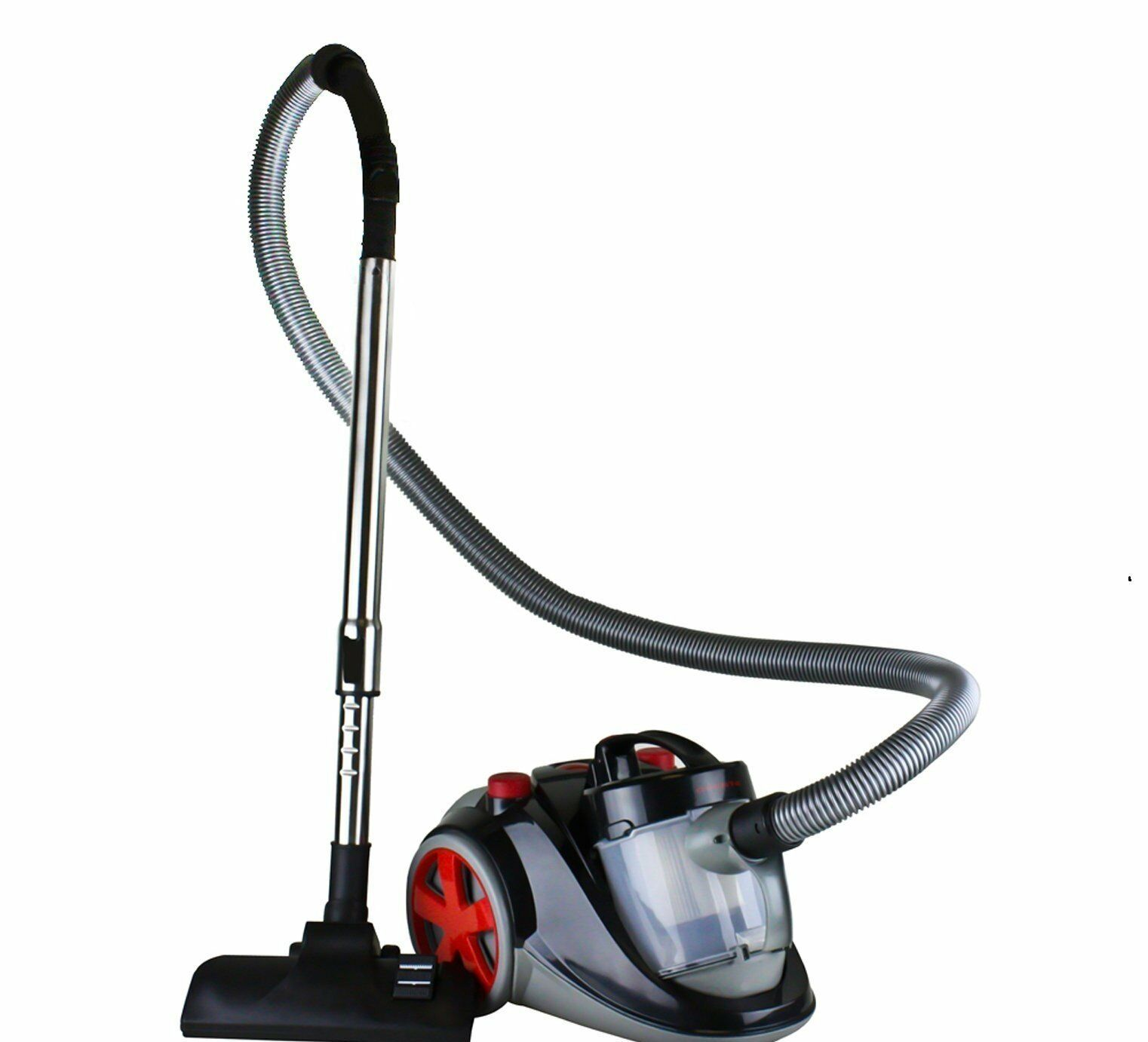 Ovente ST2000 Featherlite Cyclonic Bagless Canister Vacuum with Hepa Filter -