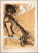 """Carlo MATTIOLI """"Ritratto di Roberto Longhi 1964 litografia originale firmata"""