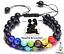 miniature 4 -  Genuine Double Bracelet Natural Gemstone 7 Chakra Beads Macrame Healing Reiki