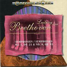 CD - Ludwig van Beethoven - Symphonien No. 1, Op. 21 & No. 8, Op. 93